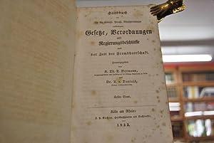 Handbuch der für die Königl. Preuß. Rheinprovinzen verkündigten Gesetze, Verordnungen und ...