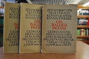 Die Balder Presse. Zeitschrift für neue und alte Kunst, Graphik, Kunstgewerbe. 5. Jahrgang Hefte 1-...