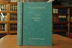Australia. A survey. With a foreword by William Keith Hancock / Schriften des Instituts für ...