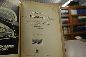 Auto-Branchen-Code. Ausgabe 1955-1956. Fabrikat-, Wortmarken-, Marken- und Namenverzeichnis. ...