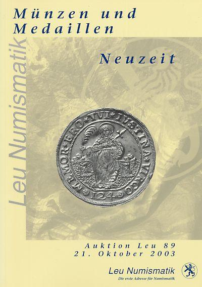 Münzen Und Medaillen Neuzeit Auktion Leu 89 2003 Leu