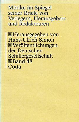 Mörike im Spiegel seiner Briefe von Verlegern,: Mörike, Eduard: