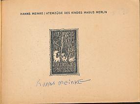 Atemzuege des Kindes Magus Merlin. In Runen,: Meinke, Hanns: