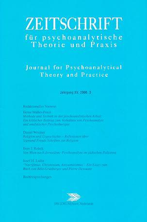 4 Bände) Jahrgang XV. Zeitschrift für psychoanalytische Theorie und Praxis. 2000. Journal for Psychoanalytical Theory and Practice. Heft 1 - 4. Kompletter Jahrgang 2000.