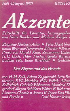 Das Eigene Und Das Fremde Heft 4 1980