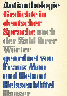 Antianthologie Gedichte In Deutscher