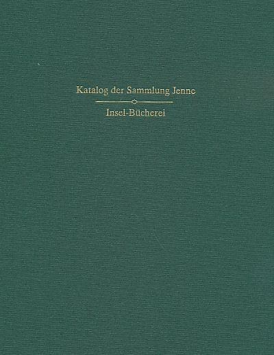 Band Ergänzungen Insel-Bücherei Sammlung Jenne Band 1