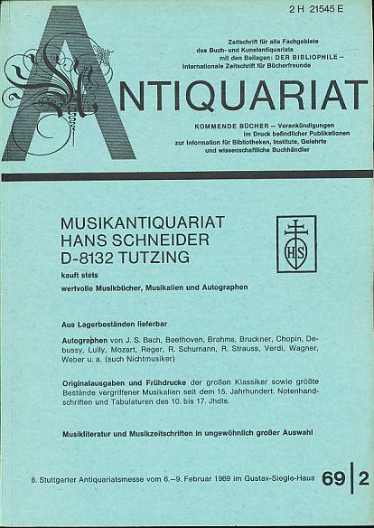 Antiquariat 1969/2. Zeitschrift für alle Fachgebiete des: Rossipaul, Lothar (Hg.):