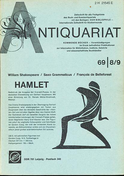 Antiquariat 1969 8/9. Zeitschrift für alle Fachgebiete: Rossipaul, Lothar (Hg.):