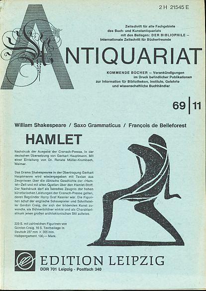 Antiquariat 1969/11. Zeitschrift für alle Fachgebiete des: Rossipaul, Lothar (Hg.):