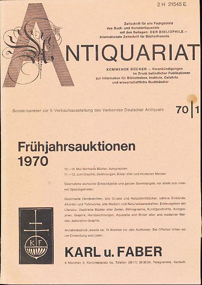 Antiquariat 70/1. Zeitschrift für alle Fachgebiete des: Rossipaul, Lothar (Hg.):