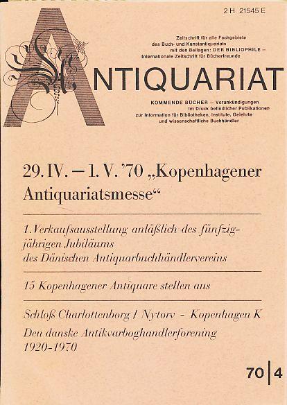 Antiquariat 70/4. Zeitschrift für alle Fachgebiete des: Rossipaul, Lothar (Hg.):