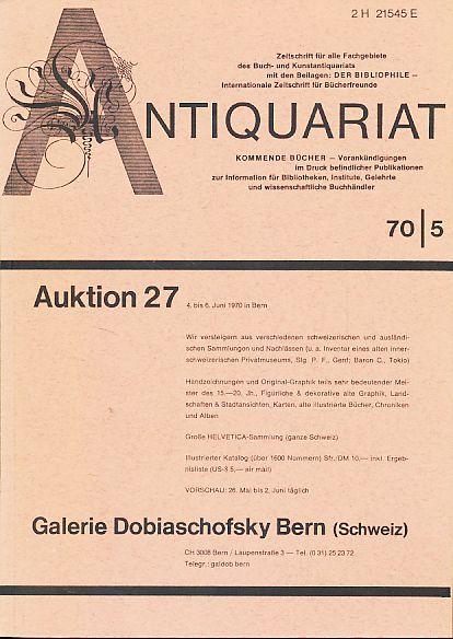 Antiquariat 70/5. Zeitschrift für alle Fachgebiete des: Rossipaul, Lothar (Hg.):