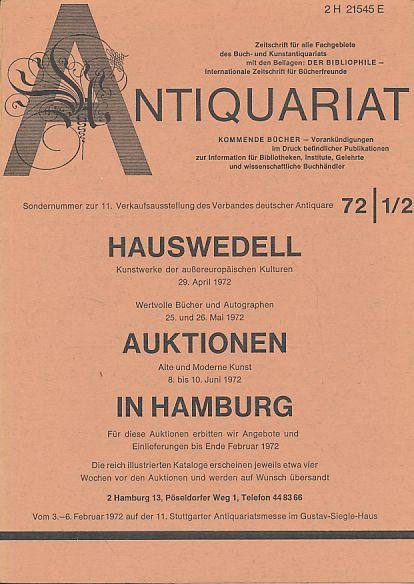 Antiquariat 72 1/2. Zeitschrift für alle Fachgebiete: Rossipaul, Lothar (Hg.):
