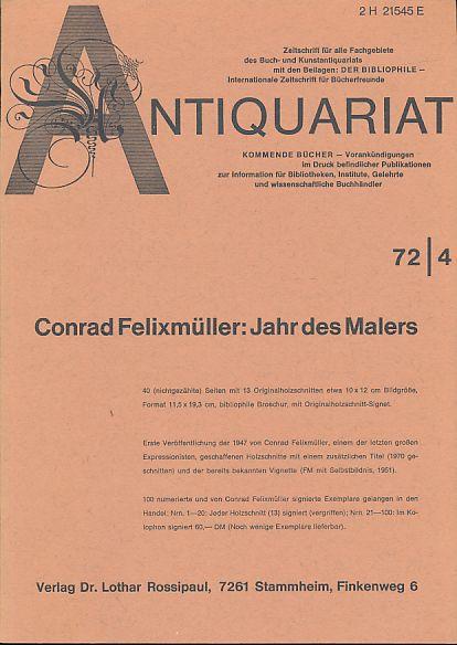 Antiquariat 72/4. Zeitschrift für alle Fachgebiete des: Rossipaul, Lothar (Hg.):