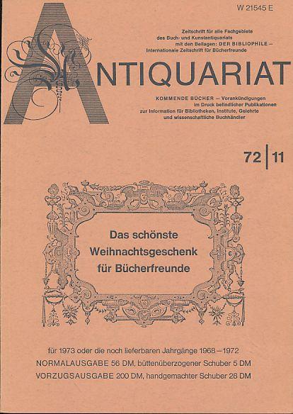 Antiquariat 72/11. Zeitschrift für alle Fachgebiete des: Rossipaul, Lothar (Hg.):