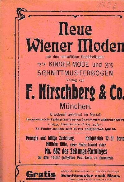 Neue Wiener Moden. 1. Januar 1906. 19.