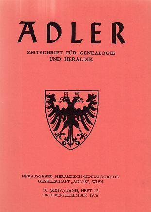 Franz Anton Pilgram, seine Verwandtschaft und Nachkommen. In: Adler. Zeitschrift für Genealogie und Heraldik; 1976. Heft 12.