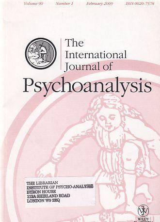 I Volume 88 The International Journal of Psychoanalysis Part 6 December 2007