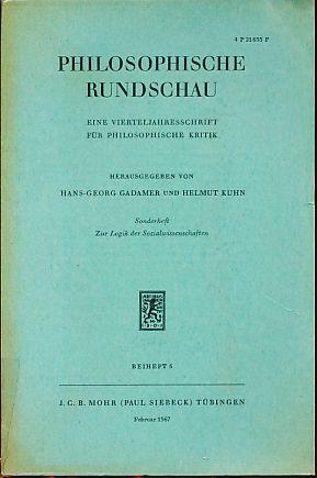 Philosophische Rundschau. Sonderheft: Zur Logik der Sozialwissenschaften.: Gadamer, Hans-Georg und