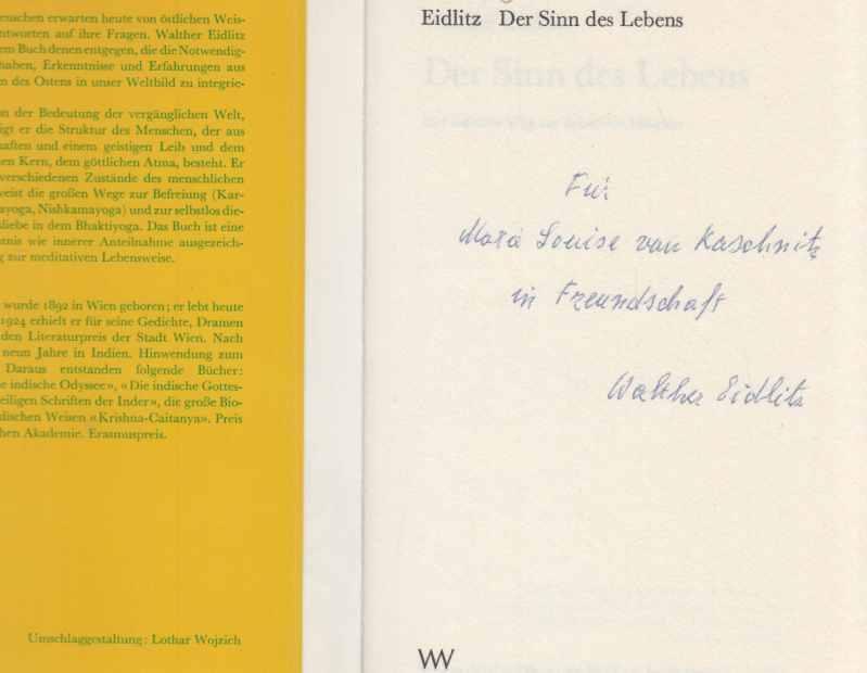 Der Sinn des Lebens : der indische: Eidlitz, Walther: