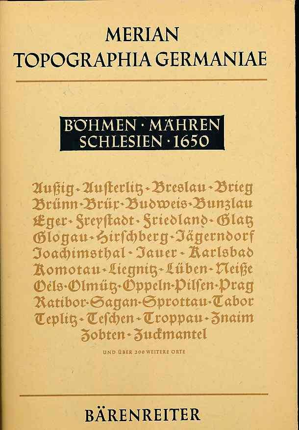 Böhmen, Mähren Schlesien 1659. Topographia Bohemiae, Moraviae: Merian d. Ä.,