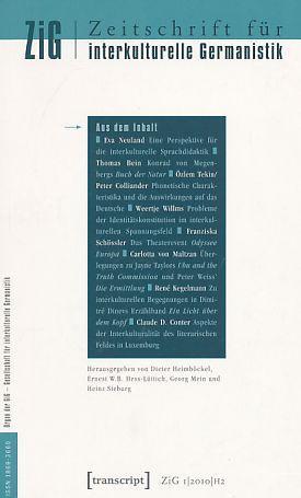ZiG. 1. Jg. 2010, Heft 2. Zeitschrift für interkulturelle Germanistik. - Heimböckel, Dieter, Ernest W.B. Hess-Lüttich Ernest W.B. Hess-Lüttich u. a.