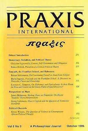 Praxis International. Vol 6. No 3. October: Benhabib, Seyla (Ed.)