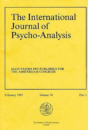 The International Journal of Psycho-Analysis 1993. Volume: Birksted-Breen, Dana (Ed.):