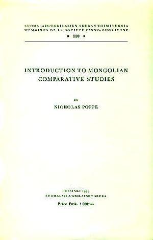 Introduction to Mongolian Comparative Studies.: Poppe, Nicholas: