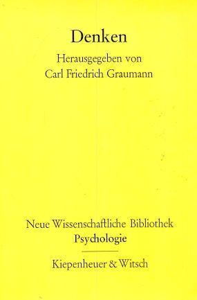 Denken.: Graumann, Carl Friedrich