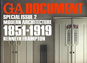 GA (Global Architecture) Document. Special Issue 2: Frampton, Kenneth: