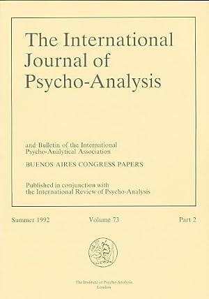 The International Journal of Psycho-Analysis. Summer 1992,: Tuckett, David und