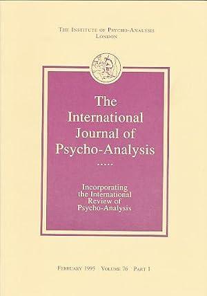 The International Journal of Psycho-Analysis. February 1995,: Tuckett, David (Ed.):
