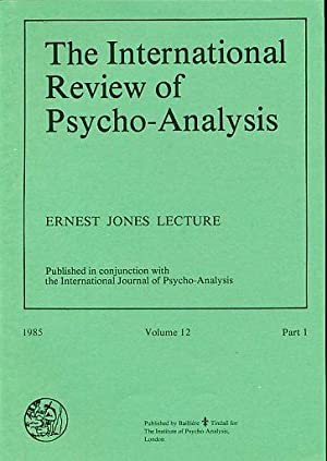 The International Review of Psycho-Analysis. Ernest Jones: Hayley, Thomas T.