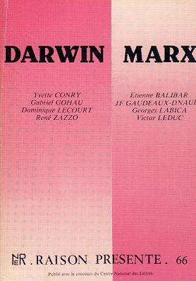Darwin - Marx. Raison Presente, 2e trim.: Leduc, Victor (Red.):