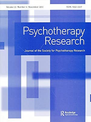 Psychotherapy Research. Journal of the Society for: Machado, Paulo P.