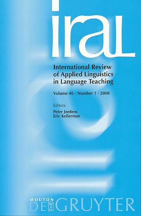 International Review of Applied Linguistics in Language: Jordens, Peter and
