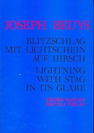 Blitzschlag mit Lichtschein auf Hirsch 1958 -: Beuys, Joseph: