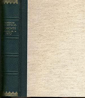 Europäische Rechtsgeschichte. Antiquariats-Katalog Nr.14/1972. Sauer & Auvermann.