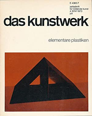 Das Kunstwerk. zeitschrift für bildende kunst. Jg. 26, Nr. 4. Elementare Plastiken. Begrü...