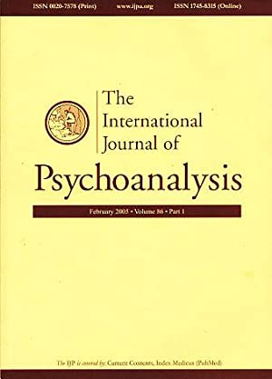 The International Journal of Psychoanalysis. 2005. Volume: Gabbard, Glen O.