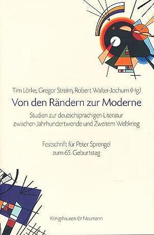 Von den Rändern zur Moderne. Studien zur deutschsprachigen Literatur zwischen Jahrhundertwende...