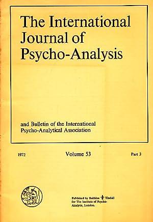 Volume 53. 1972. Part 3. The International: Sandler, Joseph (Ed.):