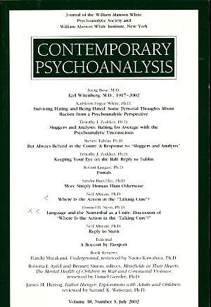 Contemporary Psychoanalysis, Volume 38, Number 3 July: Stern, Donnel B.