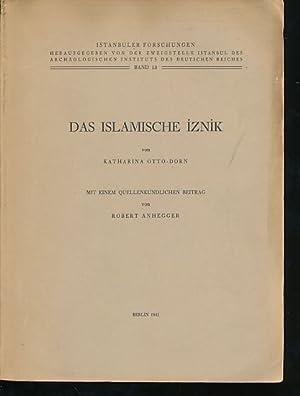Das islamische Iznik. Istanbuler Forschungen Bd. 13.: Otto-Dorn, Katharina und