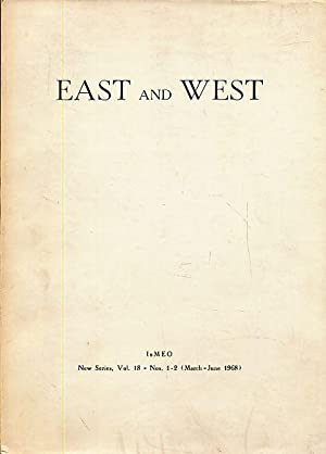 East and West. IsMEO New Series, Vol.: Tucci, Guiseppe, Domenico