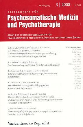 3 / 2008. 54. Jg. Zeitschrift für Psychosomatische Medizin und Psychotherapie.: Beutel, M...