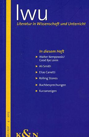 Iwu - Literatur in Wissenschaft und Unterricht;: Bauer, Matthias (Hrsg.)