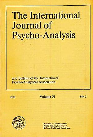 Volume 51. Part 3. 1970. The International: Sandler, Joseph (Ed.):